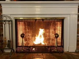 Living Room Fireplace at A Country Place Assisted Living Facility.